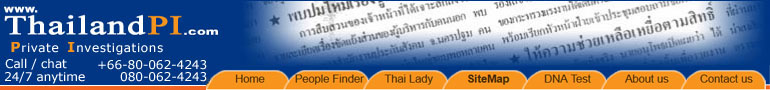 Thailand private investigation company in Bangkok